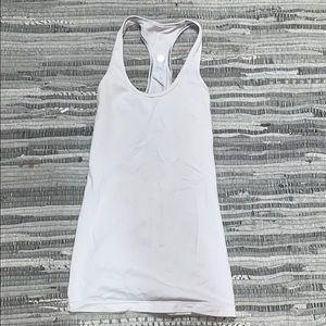 White lululemon workout tank